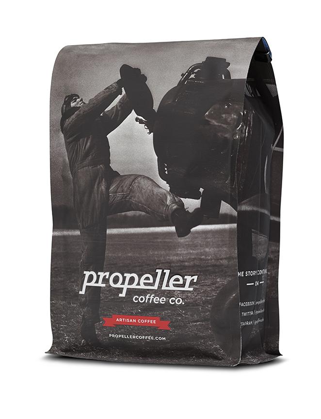 Propeller coffee bags